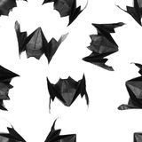 Halloween origami bats, pattern Stock Images