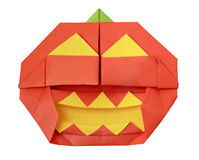 Halloween origami pumpkin Royalty Free Stock Photo