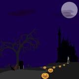 Halloween osamotniony Zdjęcia Royalty Free