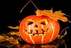 Halloween - oude hefboom-o-lantaarn stock foto's