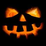 Halloween, oude hefboom-o-lantaarn op zwarte Royalty-vrije Stock Fotografie