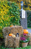 Halloween outdoor decoration Royalty Free Stock Images
