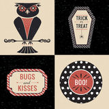 Halloween owl graphics set Royalty Free Stock Photo