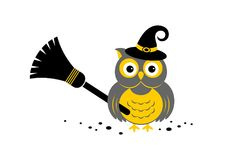 Halloween owl. Vector illustration. Halloween owl icon or logo in modern line style. Vector illustration vector illustration