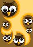 Halloween Owls Party Invitation. Invitation card with owls and space to write on the middle Stock Image