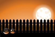 halloween płotowy palik ilustracji