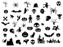 Halloween pack. Pack of halloween decoration elements Stock Photography