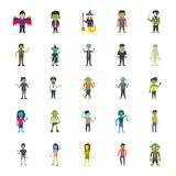 Halloween Characters Pack. The halloween pack is portraying the idea of scary, gastly, dreadful, creepy and stagger halloween character icons which can be used Royalty Free Stock Image