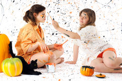 Halloween Paint War Stock Photos