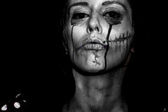 Halloween painted woman royalty free stock photo