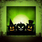 Halloween panel background green Stock Images