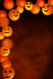 Halloween paper lanterns on a background with copy space Royalty Free Stock Images