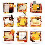 Halloween Paper notes. Stock Photography