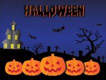 Halloween-Papierschnitthintergrund stockbild