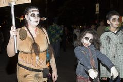 Halloween parade NYC Stock Image
