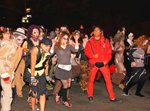 halloween parady wielki świat Fotografia Royalty Free