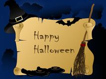 Halloween parchment Royalty Free Stock Image