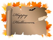 Halloween parchment Royalty Free Stock Images