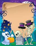 Halloween parchment 9 Royalty Free Stock Image