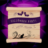 Halloween parchment invitation Stock Photo