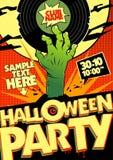 Halloween-Partei in der Pop-Arten-Art. lizenzfreie abbildung