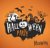 Halloween-Partei, Halloween-Plakat Stockfotografie