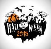Halloween-Partei, Halloween-Vektorplakat Lizenzfreie Stockbilder