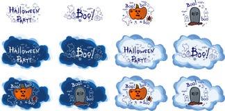 Halloween-Partei, Hand gezeichnete Karikatur stellt, Illustration ein Lizenzfreies Stockbild