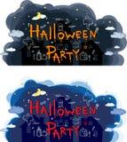 Halloween-Partei, Hand gezeichnete Karikatursätze Lizenzfreie Stockbilder