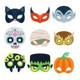 Halloween-Partei maskiert Vektorillustration Lizenzfreie Stockfotografie