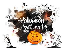 Halloween-Partei-Plakat-, Fahnen- oder Fliegerdesign Stockbilder
