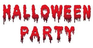 Halloween-Partei-Wörter - geschrieben in Blut Stockbilder