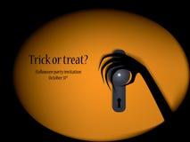 Halloween-Parteieinladung lizenzfreie abbildung