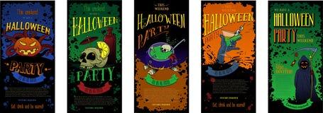 Halloween-Parteieinladungen eingestellt Lizenzfreie Stockfotografie
