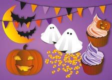Halloween-Parteiillustrationssatz Lizenzfreies Stockbild
