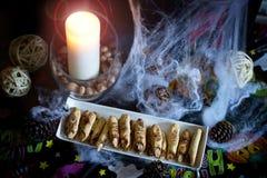Halloween-Parteilebensmittel Stockfotos