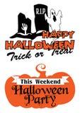 Halloween-Parteiplakat und -fahne Lizenzfreie Stockfotos