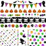Halloween-Parteisatz Lizenzfreies Stockfoto