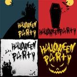Halloween-Parteivektorschablonen Lizenzfreie Stockbilder