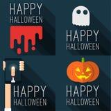 Halloween-Parteivektorschablonen Stockbilder