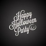 Halloween-Parteiweinlese-Beschriftungshintergrund Lizenzfreie Stockbilder