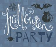 Halloween-Parteiweinlese-Schmutzplakat Stockfotos