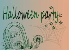 Halloween-partij, kunstaffiche Stock Fotografie