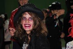 Halloween-partij met kinderen die op het gezicht geschilderd zijn royalty-vrije stock foto's