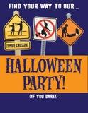 Halloween-Partij Vectormalplaatje Royalty-vrije Stock Afbeeldingen