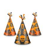 Halloween-partijhoeden op witte achtergrond worden geïsoleerd die vector illustratie