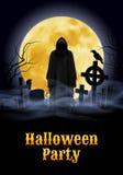 Halloween-partijillustratie royalty-vrije illustratie