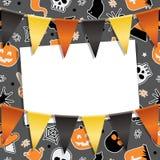 Halloween-partijkaart Stock Foto