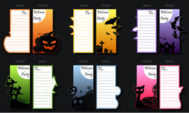 Halloween-partijkaart Royalty-vrije Stock Fotografie