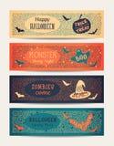Halloween-partijkaarten Stock Foto